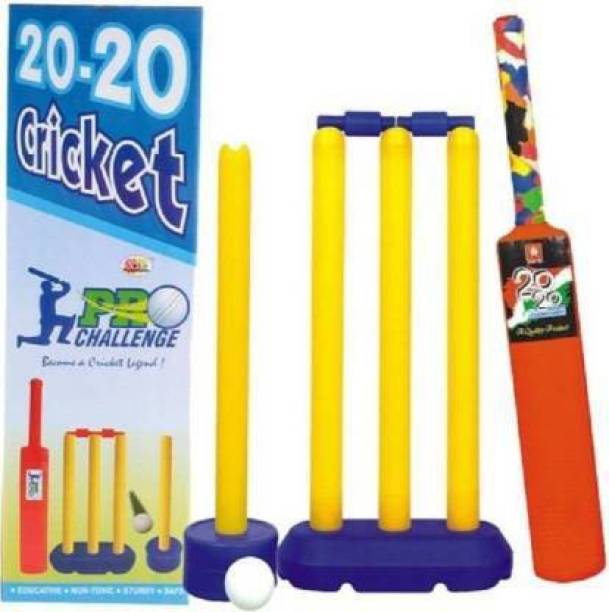 Aarohi Collections 20-20 Kids Cricket Set Cricket Kit Cricket Kit (Bat Size: 3 (Age Group 8+)) Cricket Kit Cricket Kit
