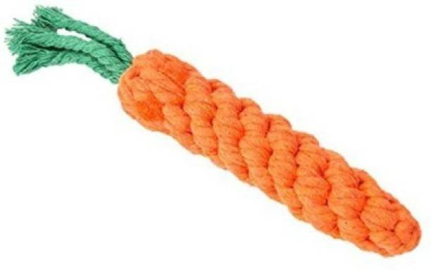 Petworld Durable Dog Chew Plush Rope Puppy Dental Teething Cleaning Chewing Molar Cotton Knot Clean Teeth Healthy Chew Fun Toy for Puppies (Color May Vary) (Carrot) Jute Tug Toy For Dog Silicone Soft Toy For Dog & Cat
