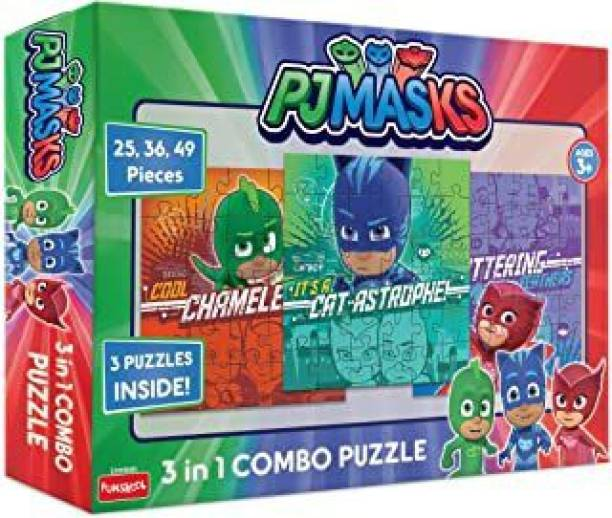 FUNSKOOL PJ MASKS 3 IN 1 COMBO PUZZLE , CREATIVE , EDUCATIONAL, JIGSAW PUZZLE FOR BOYS & GIRLS