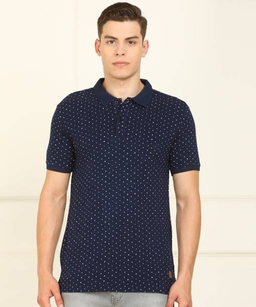 Billion Printed Men Polo Neck Dark Blue T-Shirt