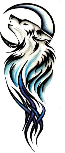 voorkoms Fox tattoo design Men and Women Waterproof Temporary Tattoo