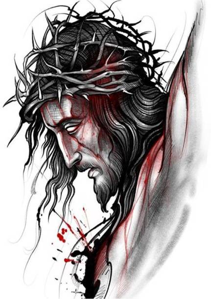 voorkoms Jesus Men and Women Waterproof Temporary Tattoo