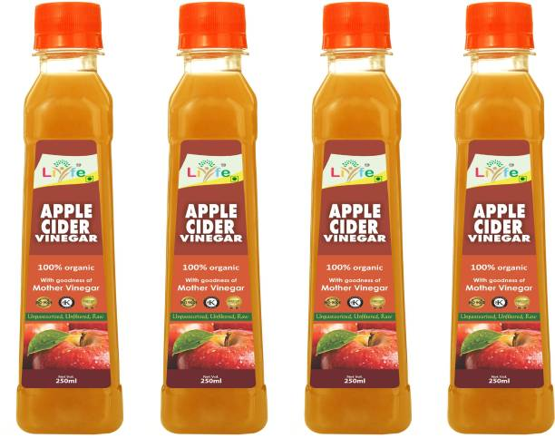 LIYFE Organic Raw Apple Cider Vinegar with mother 250 ml Vinegar (250 ml) Vinegar