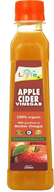LIYFE Apple Cider Vinegar with Mother for Weight Loss Vinegar (250 ml) Vinegar