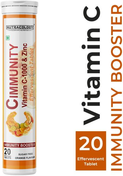 Nutracology Cimmunity Vitamin C 1000mg Effervescent Tablet for Glowing Skin, Immunity Booster