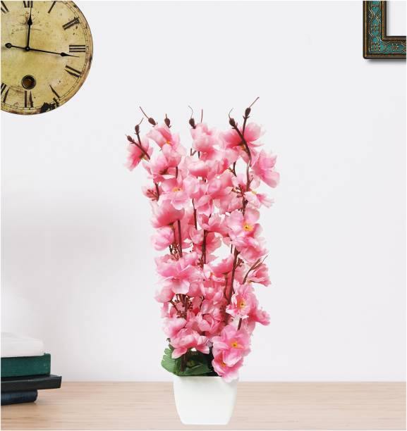 Flipkart Perfect Homes Blossom Orchid Bunch in Pot Pink Orchids Artificial Flower  with Pot