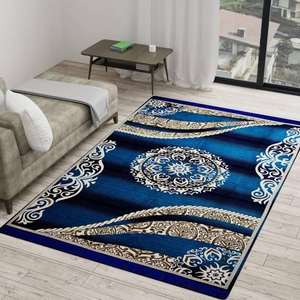 Vram Blue, Brown Velvet Carpet