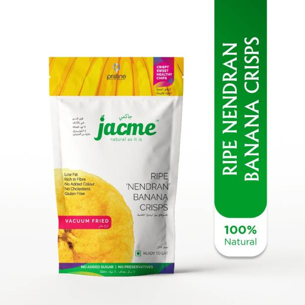 jacme Vacuum Fried Kerala Ripe Banana Chips | Pack of 2 |100 g Each | Healthy, Tasty and Delicious Chips