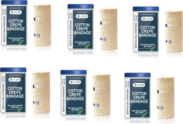 Carent Cotton Crepe Bandage 15 cm (width) x 4.5 m (Length) Pack of 6 Crepe Bandage