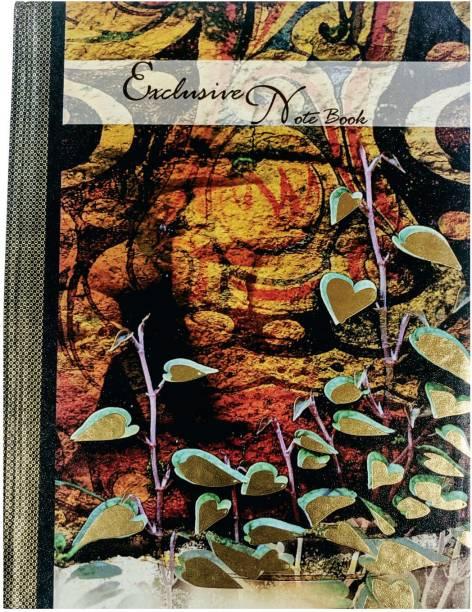 MasterMindMajesty Leaf Notebook A4 Notebook Single Line 208 Pages