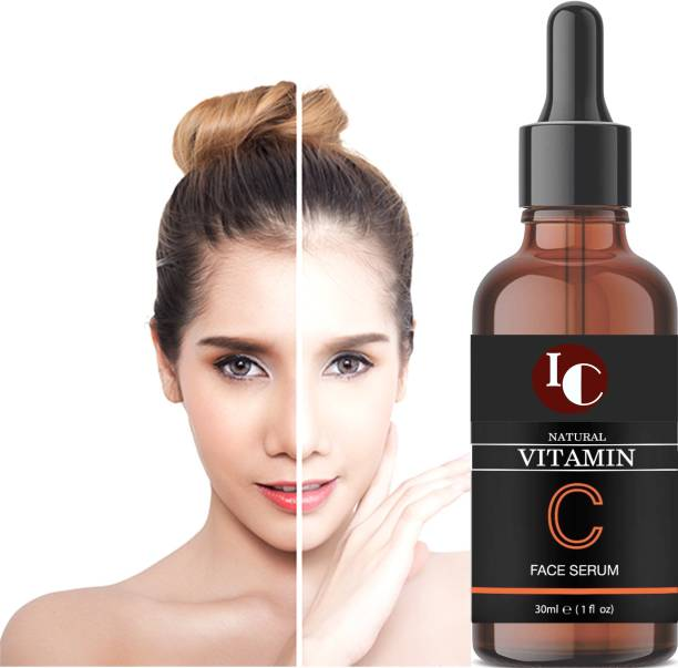 INDO CHALLENGE Vitamin C Skin Clearing Brightening, Anti-Aging Skin Repair, Supercharged Face Serum, Dark Circle, Fine Line Sun Damage Corrector, Genuine 20%, Glass Bottle