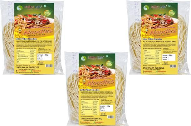 Millet Life Little Noodles Pack of 3 (3*200g) Instant Noodles Vegetarian