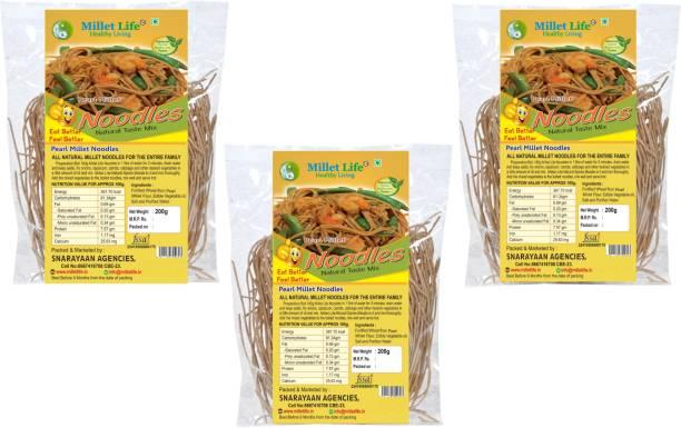 Millet Life Pearl Noodles Pack of 3 (3*200) Hakka Noodles Vegetarian