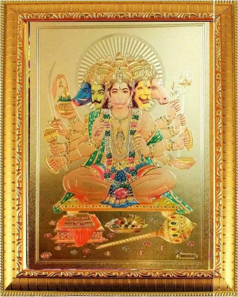 SUNINOW God Panchmukhi Hanuman jee Religious Frame