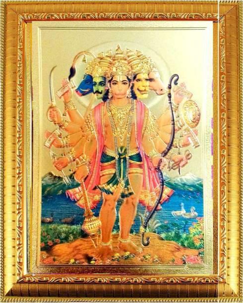 SUNINOW Panchmukhi Hanuman photo Frame  God Photo Frames    Photo Frame Religious Frame