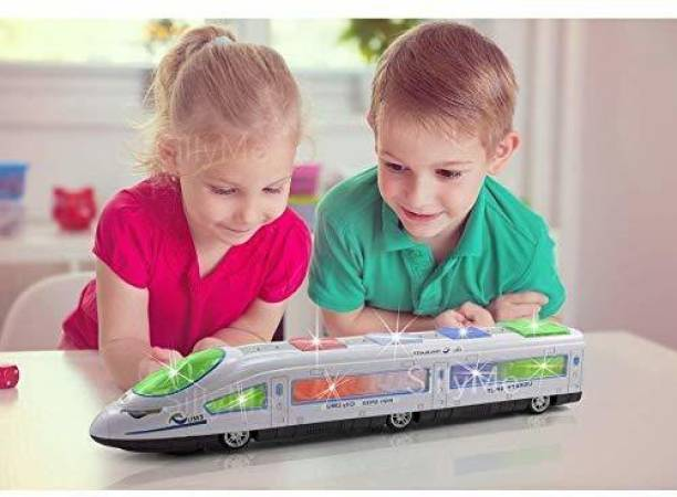 PRANAM GT bump and go high speed bullet train toy 3d lighting and musical fun sounds toy for kids birthday