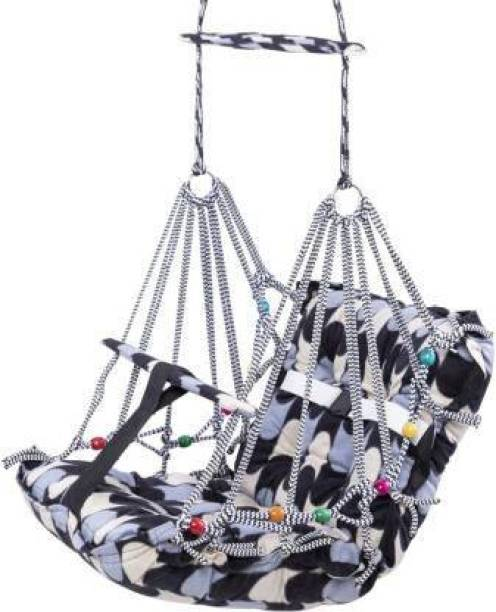 unique star Luximal New Comfortable Cotton Baby Swing for Kids/Babies Folding and Washable With Safety Belt Home Garden Indoor Outdoor Swings Swings (Multicolor) Swings