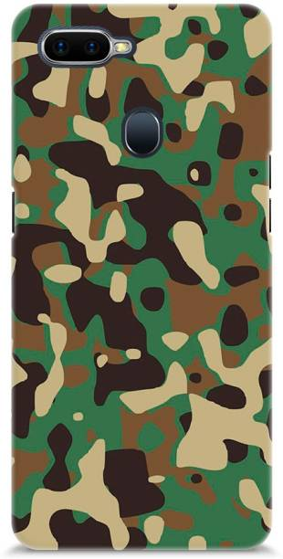 Roochyam Back Cover for OPPO F9 Pro (Military Background)