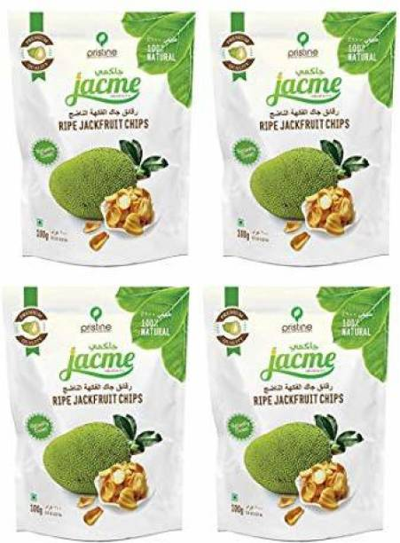 jacme Vacuum Fried Kerala Ripe Jackfruit Chips | Pack of 4 | 100 g Each | Healthy, Tasty and Delicious Chips