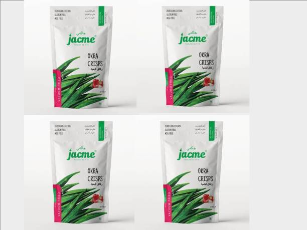 jacme Vacuum Fried Okra Chips | Pack of 4 | 30 g Each | Healthy, Tasty and Delicious Chips