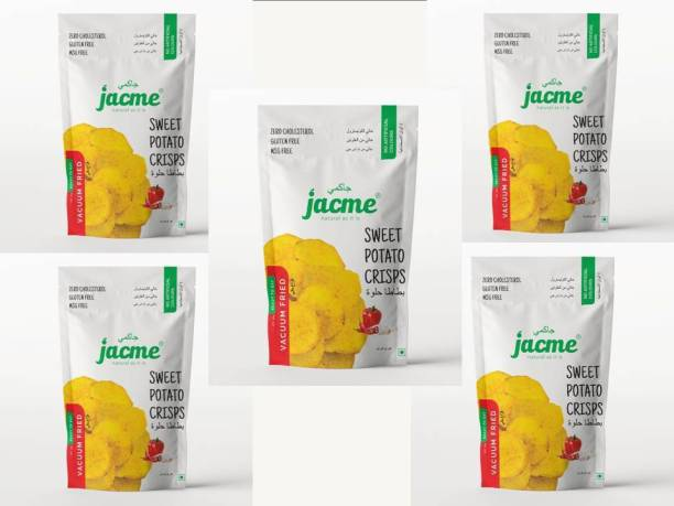 jacme Vacuum Fried Sweet Potato Chips | Pack of 5 | 32 g Each | Healthy, Tasty and Delicious Chips