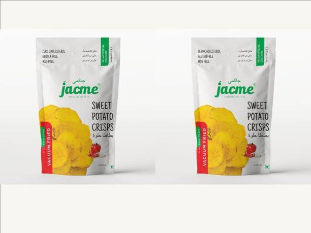 jacme Vacuum Fried Sweet Potato Chips | Pack of 2 | 32 g Each | Healthy, Tasty and Delicious Chips