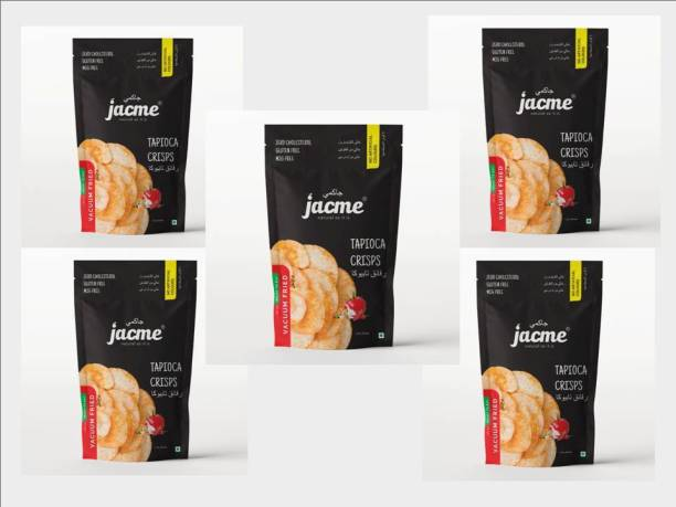 jacme Vacuum Fried Tapioca Chips | Pack of 5 | 60 g Each | Healthy, Tasty and Delicious Chips