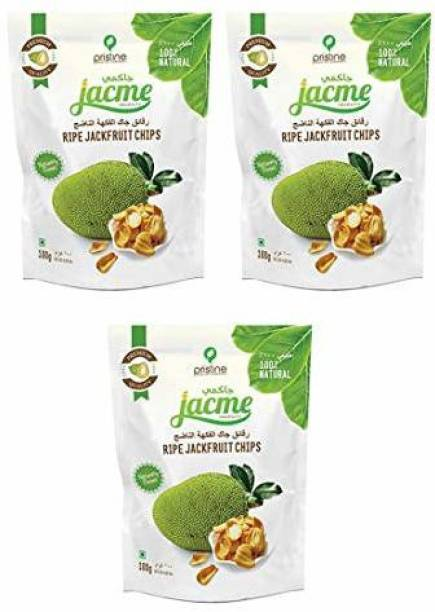 jacme Vacuum Fried Kerala Ripe Jackfruit Chips | Pack of 3 | 100 g Each | Healthy, Tasty and Delicious Chips