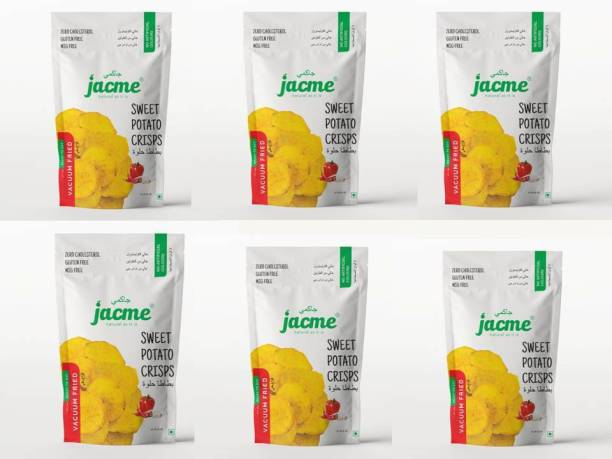 jacme Vacuum Fried Sweet Potato Chips | Pack of 6 | 32 g Each | Healthy, Tasty and Delicious Chips