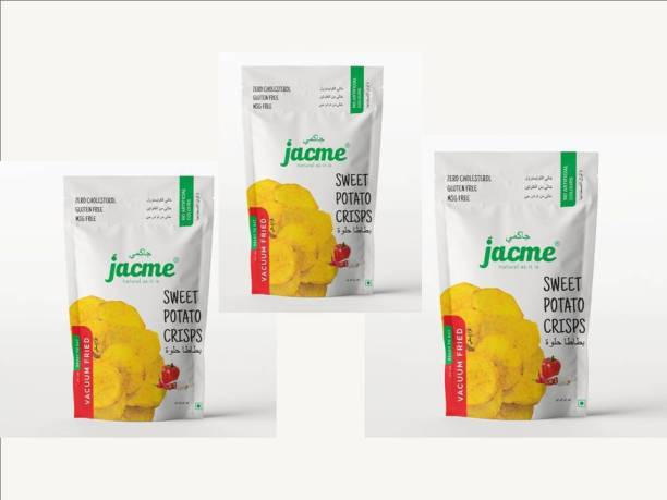 jacme Vacuum Fried Sweet Potato Chips | Pack of 3 | 32 g Each | Healthy, Tasty and Delicious Chips