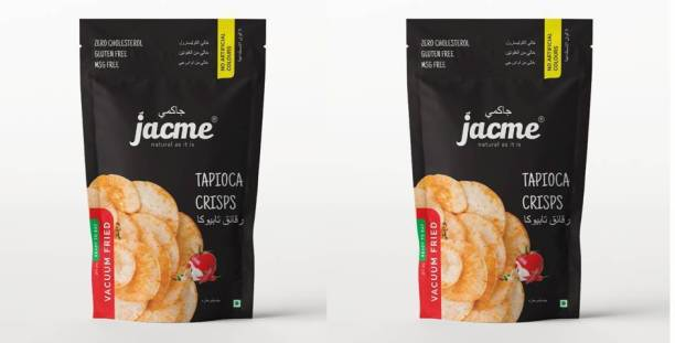 jacme Vacuum Fried Tapioca Chips | Pack of 2 | 60 g Each | Healthy, Tasty and Delicious Chips