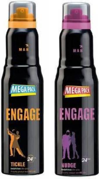 Engage Nudge,Tickle Deo Spray Deodorant Spray  -  For Men