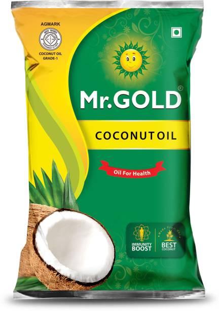 Mr. Gold COCONUT OIL 1 Ltr Pouch Coconut Oil Pouch