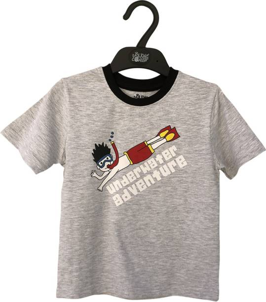 The Talking Canvas Boys Graphic Print Cotton Blend T Shirt