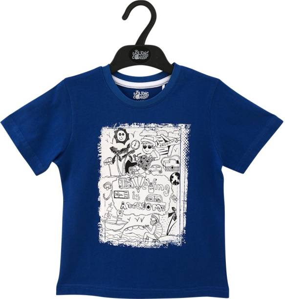 The Talking Canvas Boys Printed Cotton Blend T Shirt