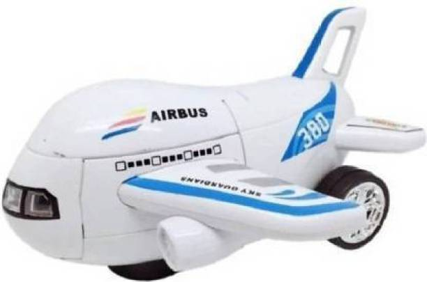 FAB INES Airbus Robot Transformer Deformation Airbus Into Robot With Music (Running,Not flying) (Multicolor)