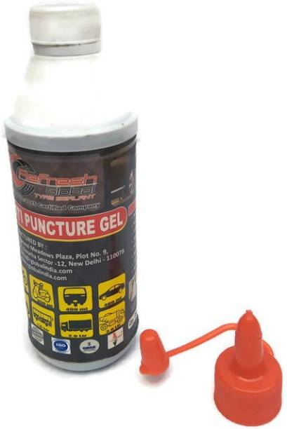 Refresh Global Anti Puncture Gel (300ml) Tyre Sealant for all 2- wheelers Tubeless Tyre Puncture Repair Kit