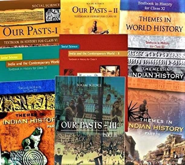 Set Of Class - 6 TO 12 History Books (ENGLISH MEDIUM) For UPSC Prelims / Main / IAS / Civil Services / IFS / IES / ISS / CISF / CDS / SCRA / IFS / NDA (9 BOOKS)
