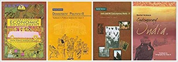 NCERT HISTORY,GEOGRAPHY,ECONOMICS,CIVICS BOOKS FOR CLASS 10 Unknown Binding – 1 January 2019