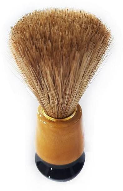 RASUSAM Brown Synthetic bristles Shaving Brush