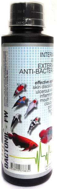 AQUATIC REMEDIES Anti Bacterial Effective Fish Skin Treatment Bactonil Freshwater Aquarium Medicine, 60ml Aquatic Plant Fertilizer