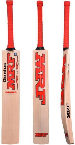 MRF Genius Grand Edition Kashmiri willow Bat with Bat cover Kashmir Willow Cricket  Bat