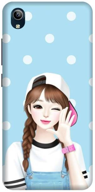 MD CASES ZONE Back Cover for Vivo Y91i Girl Cute printed back cover