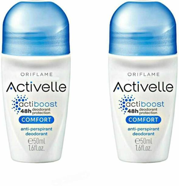 Oriflame Activelle Comfort Anti-perspiration 48h deodorant protection Roll on Set of 2 (50 ml each) Deodorant Roll-on  -  For Men & Women