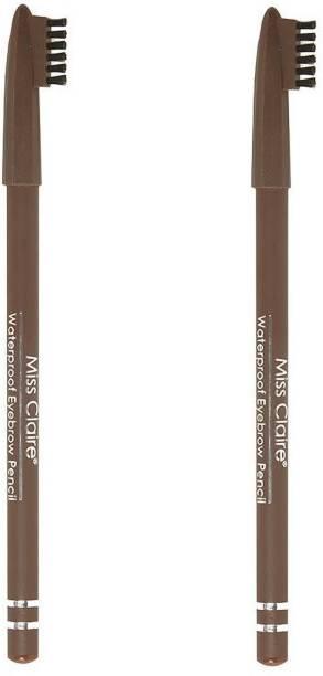 Miss Claire Waterproof Eyebrow Pencil - Pack of 2 - Brown