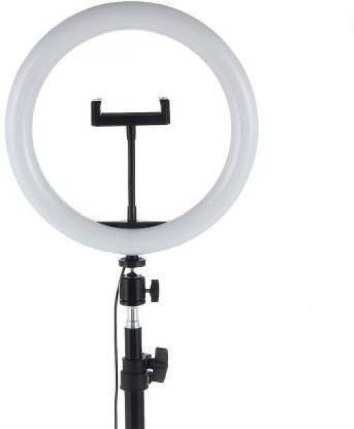 Hemrex LED Ring Light 10 Inch With Cell Phone Holder Without Tripod Stand Flash Ring Flash