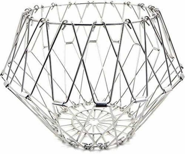 Noir Homes Stainless Steel Multipurpose 8 Shapes IN 1 Folding Fruit and Vegetable Basket Steel Fruit & Vegetable Basket