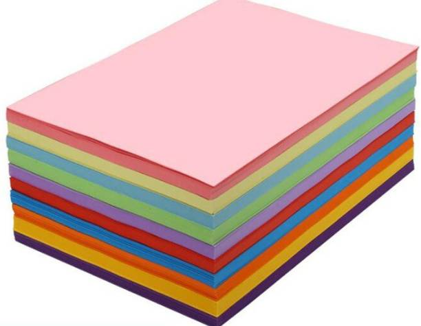 OFIXO 100 A4 Colorful Printing Paper Children Handmade Origami Craft Paper Thick Paperboard Cardboard NO A4 80 gsm Drawing Paper