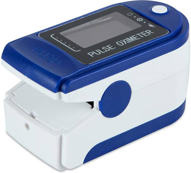 AccuSure Finger Tip Pulse Oximeter with LED Display and Auto Power Off Feature (Blue and White) Pulse Oximeter
