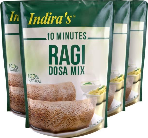 Indira Ragi Dosa Mix 500g Pack of 4 2000 g